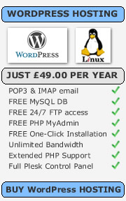 wordpress hosting for £49